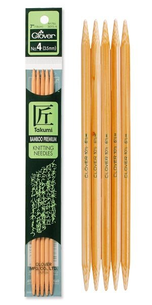 Clover 20cm Takumi Double Point Knitting Needles 3.0mm