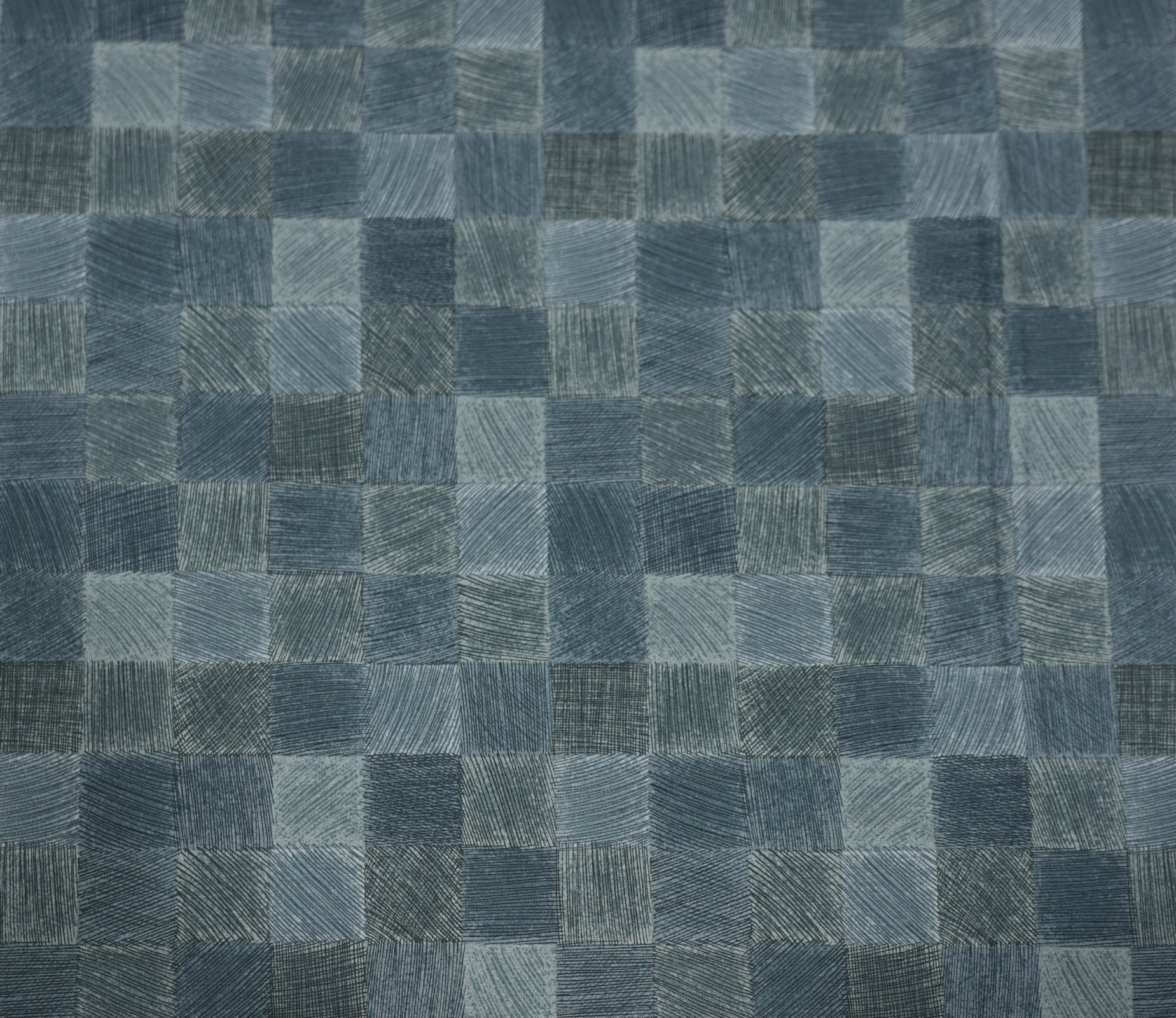 Kei Textiles - Geo Style - Blue - Multi Check