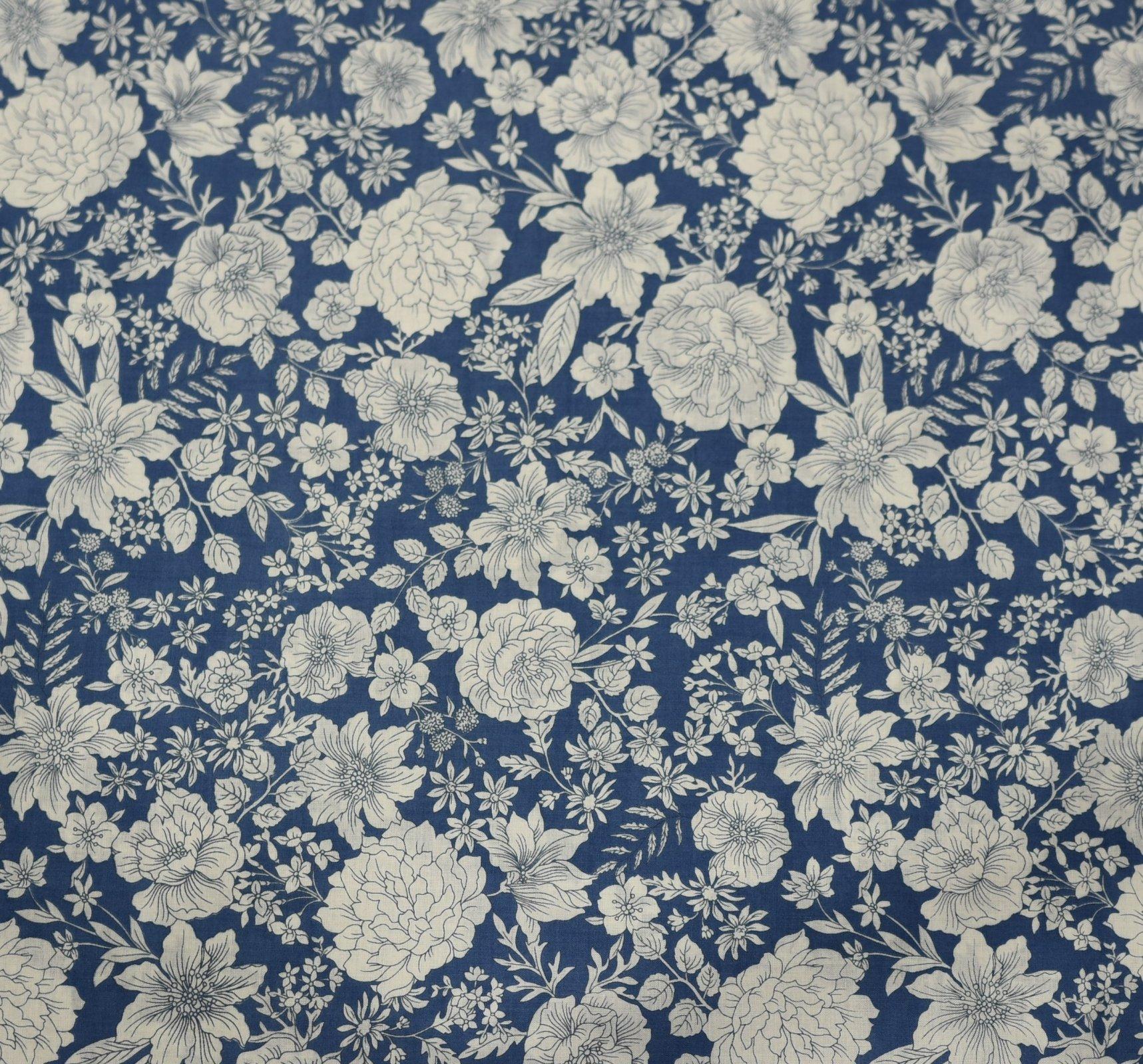 Sevenberry - Stencil Floral - Blue