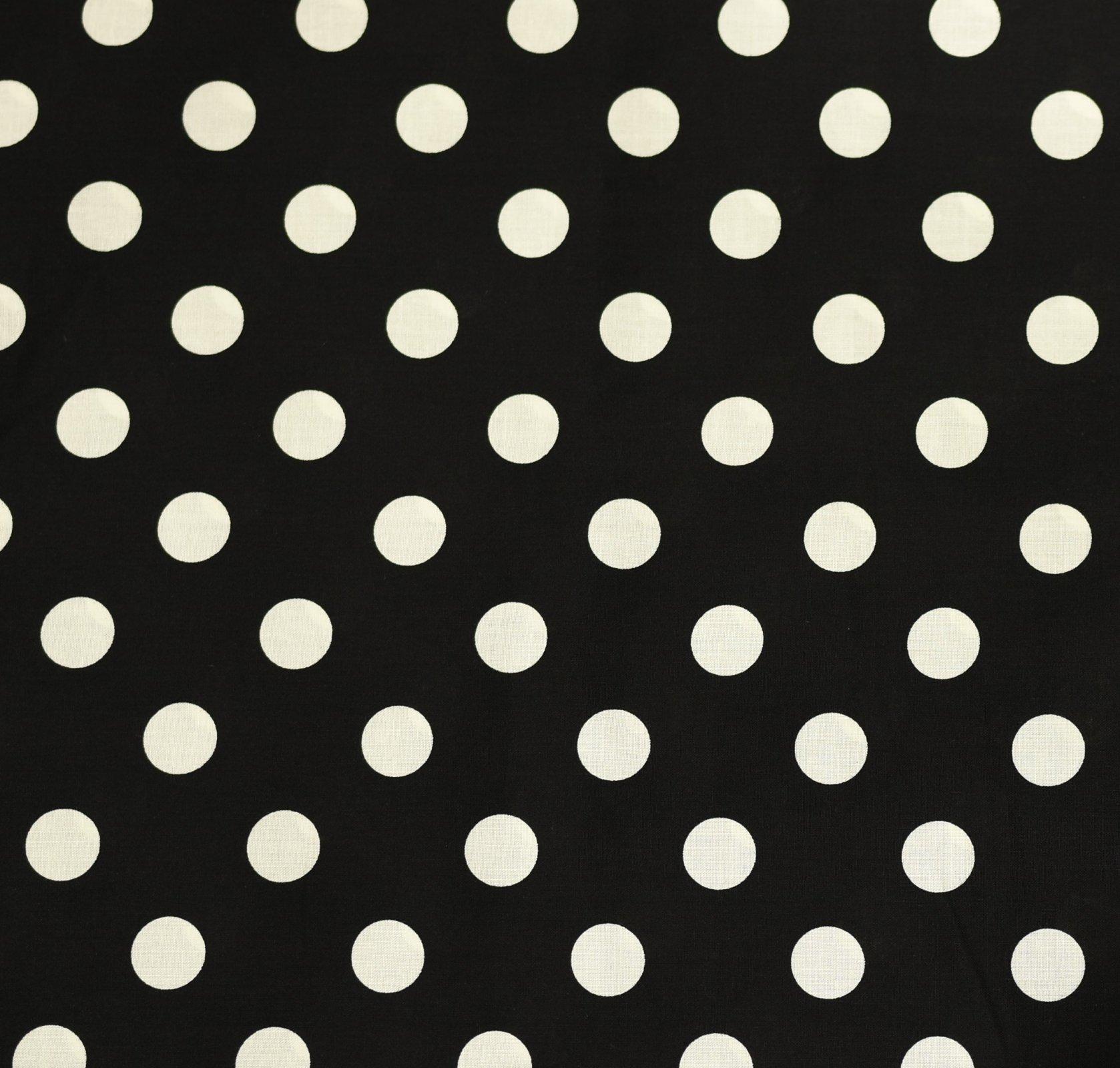 Japanese Fabric - Color Cocktails - Spots - Black/Cream
