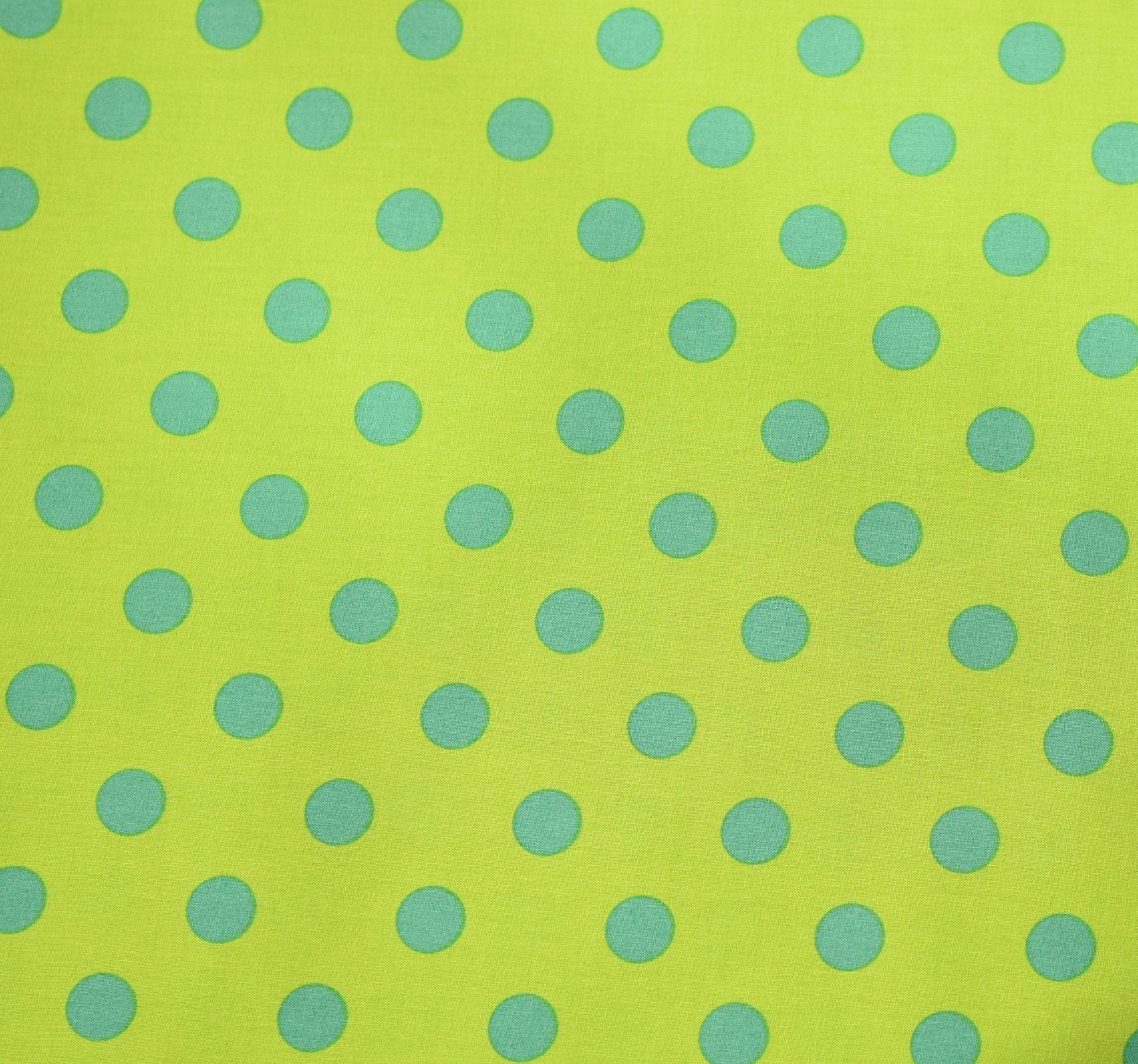 Japanese Fabric - Color Cocktails - Spots - Green/Green