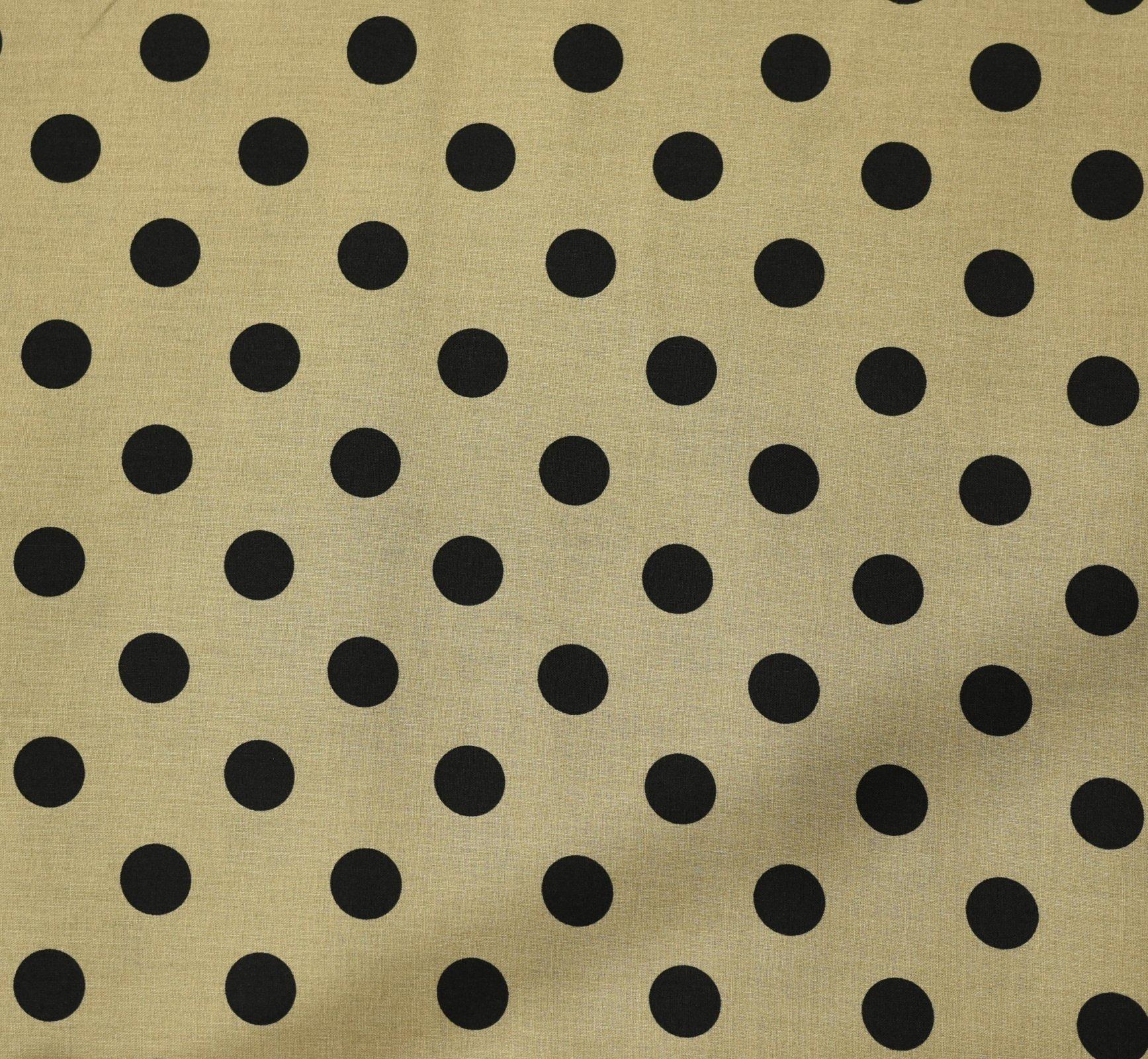 Japanese Fabric - Color Cocktails - Spots - Beige/Black
