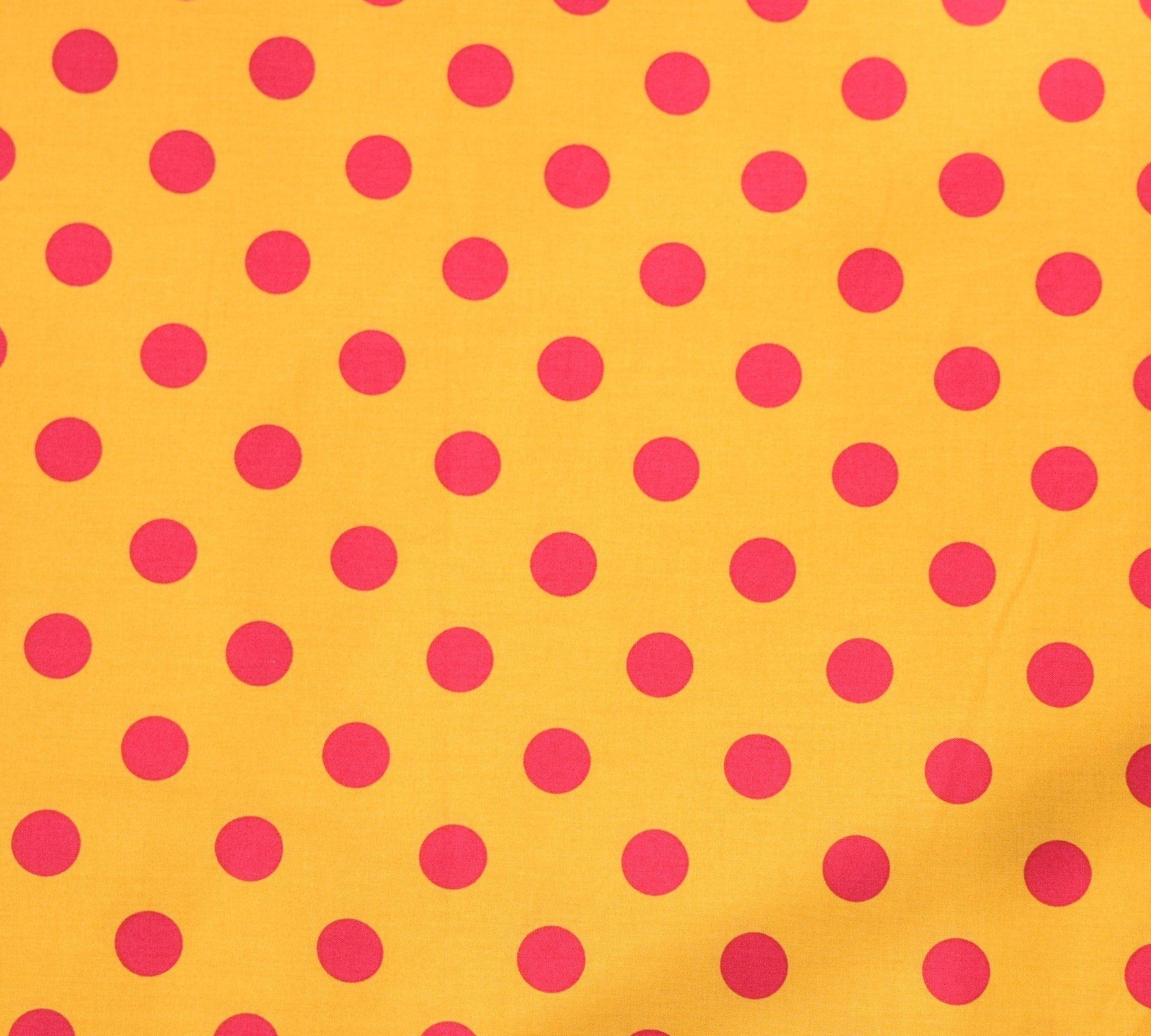 Japanese Fabric - Color Cocktails - Spots - Orange/Lipstick
