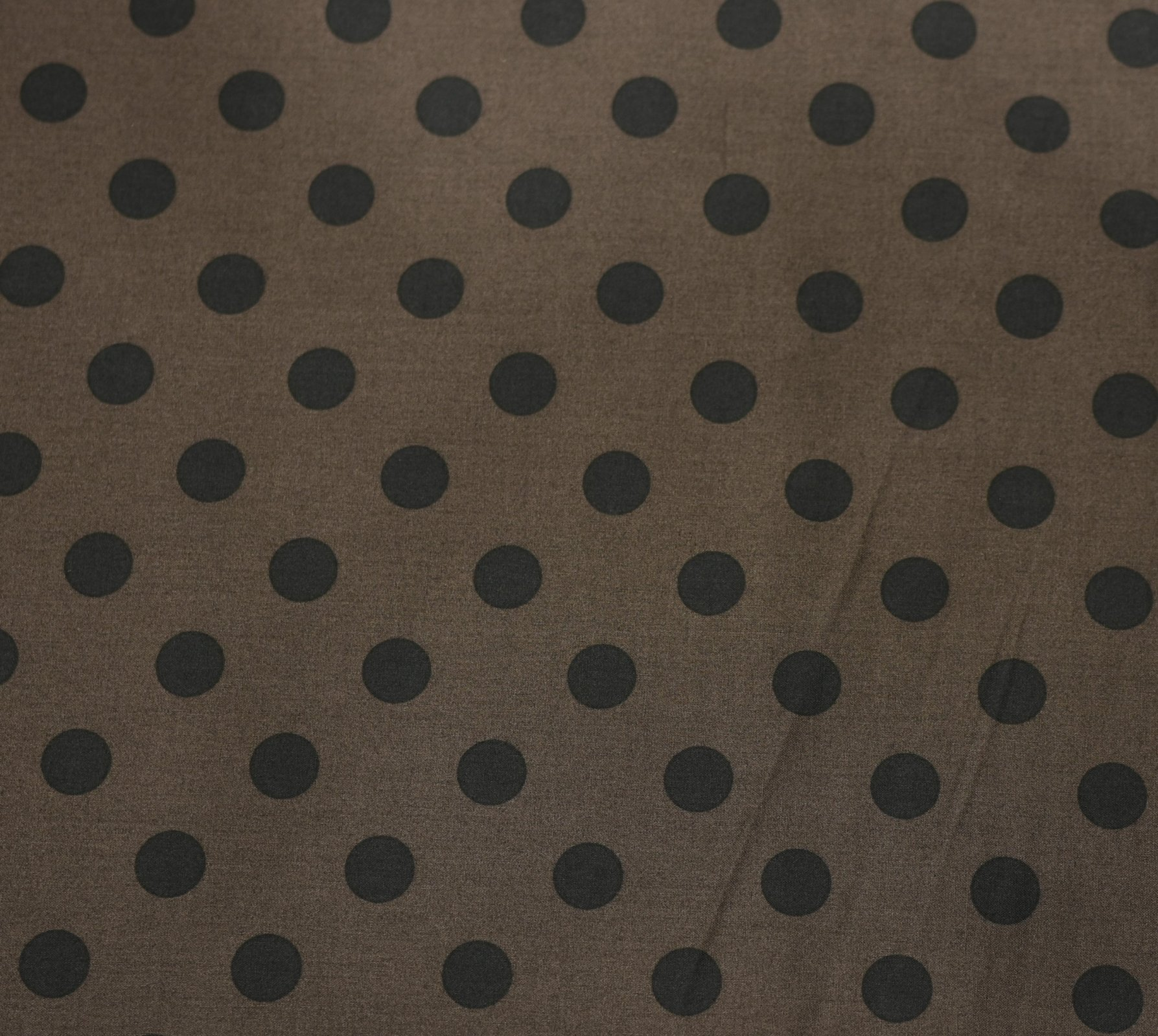Japanese Fabric - Color Cocktails - Spots - Chocolate/Black