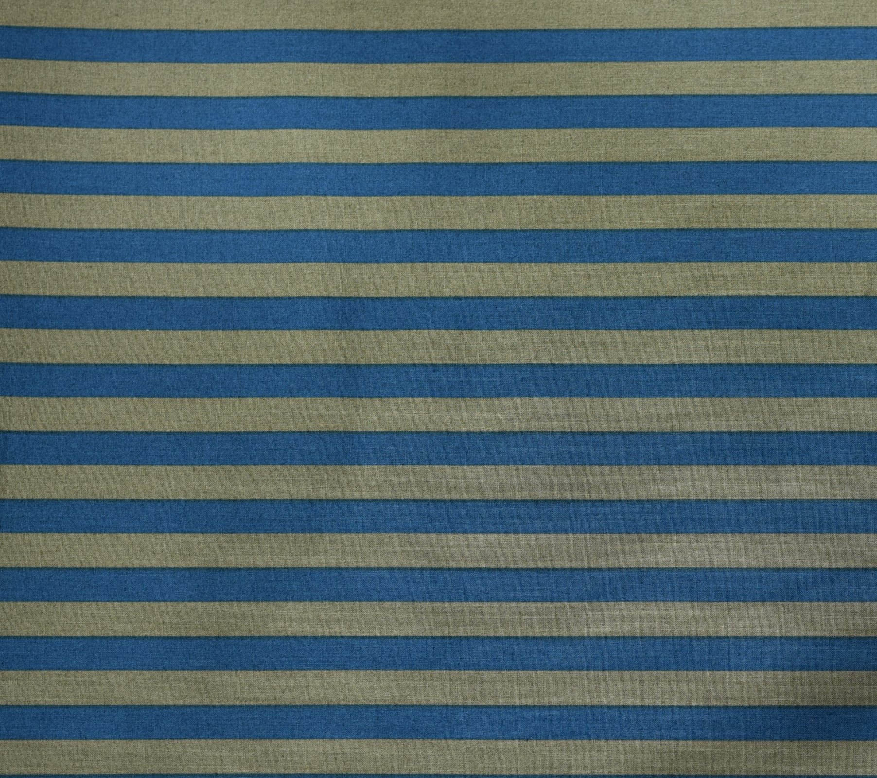 Japanese Fabric - Color Cocktails - Thick Stripe - Marine Blue/Grey