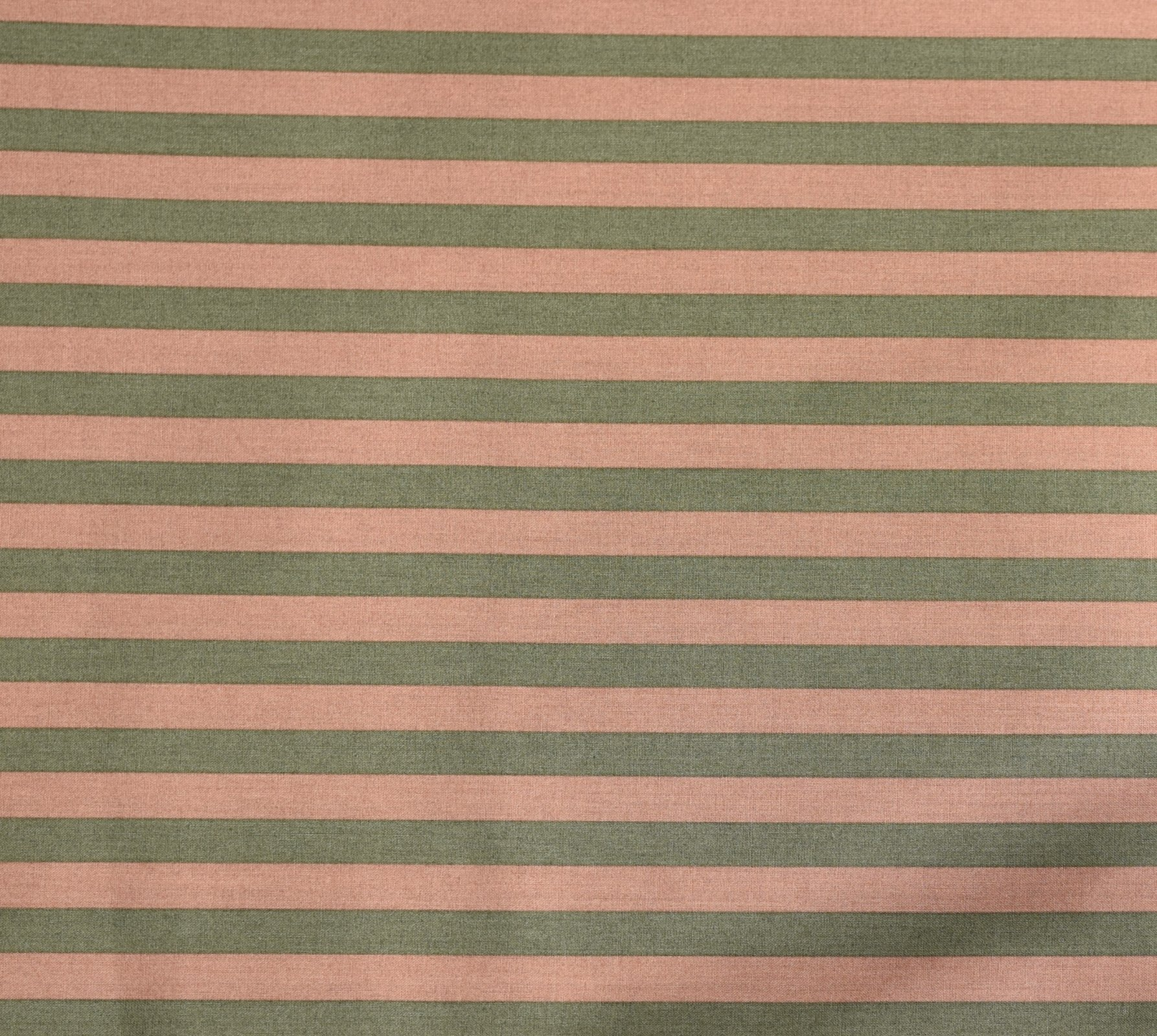 Japanese Fabric - Color Cocktails - Thick Stripe - Dusty Rose/Grey