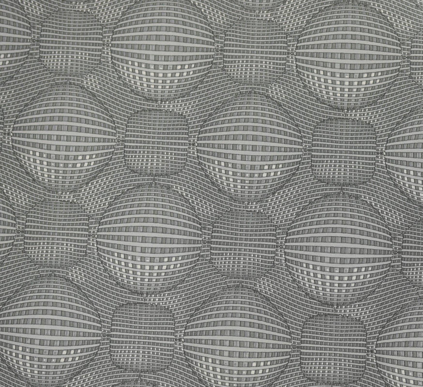 Kei Textiles - Rythme - Graphic Sphere - Grey