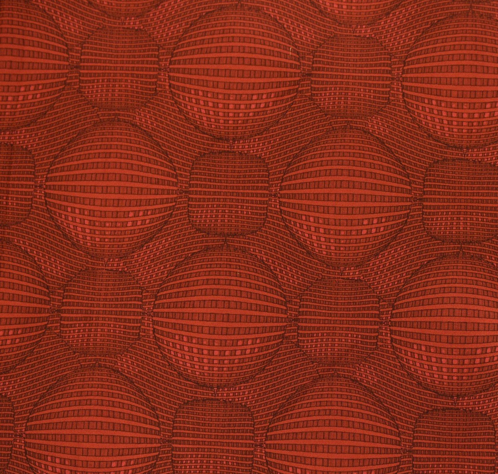 Kei Textiles - Rythme - Graphic Sphere - Red