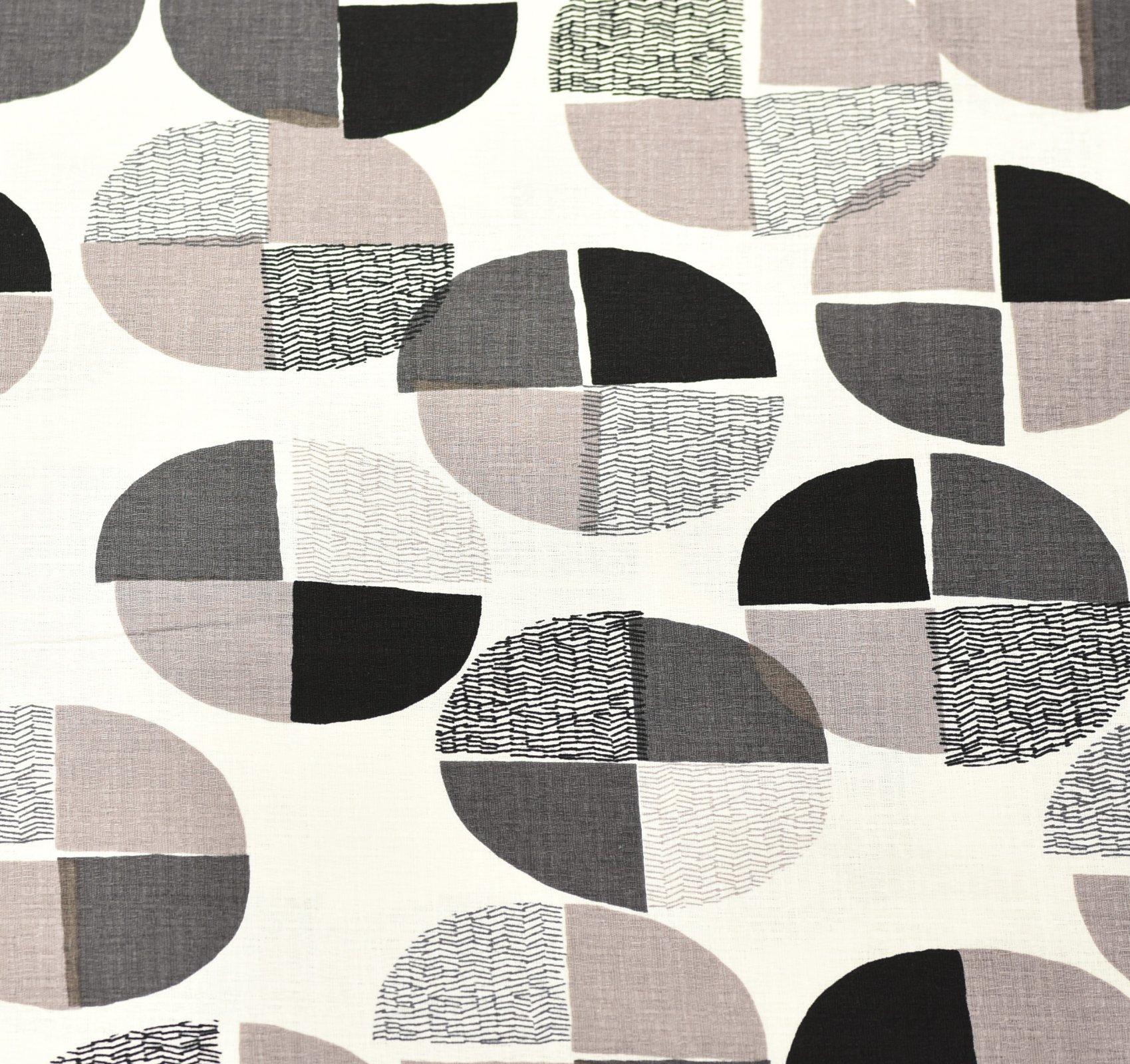 Hokkoh Fabric - Deconstructed Spot - White & Grey