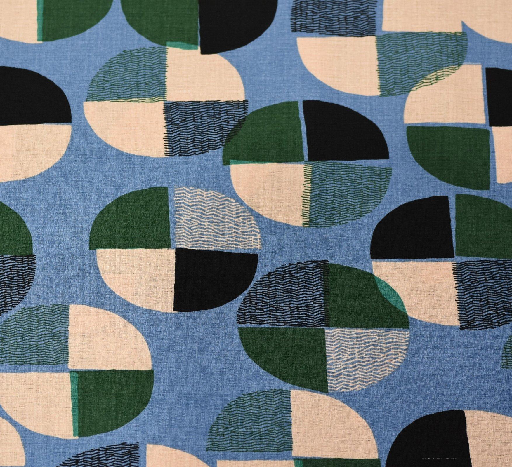 Hokkoh Fabric - Deconstructed Spot - Blue & Green