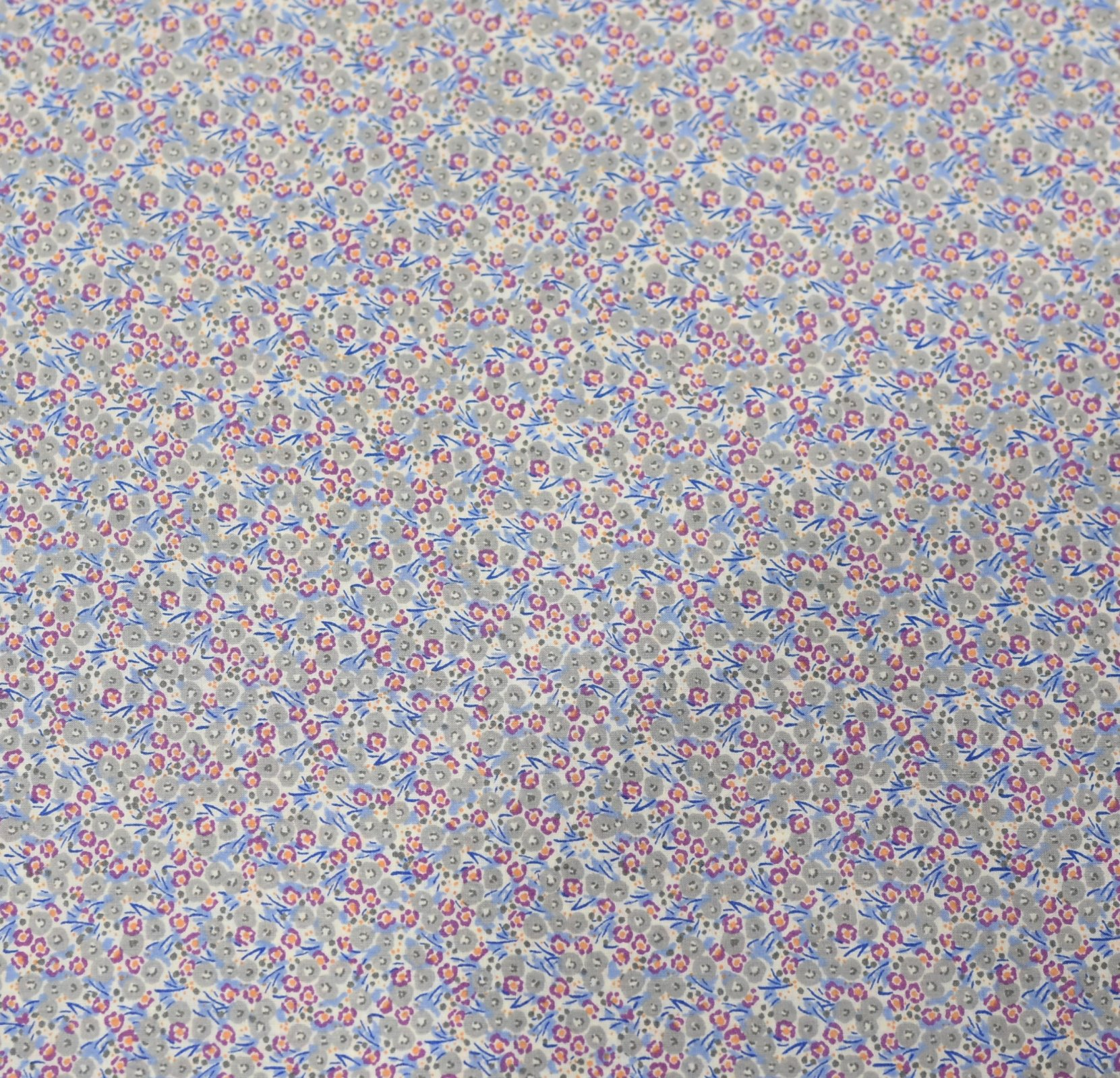 Hokkoh Fabric - Lawn Fabric - Ditsy Floral Grey
