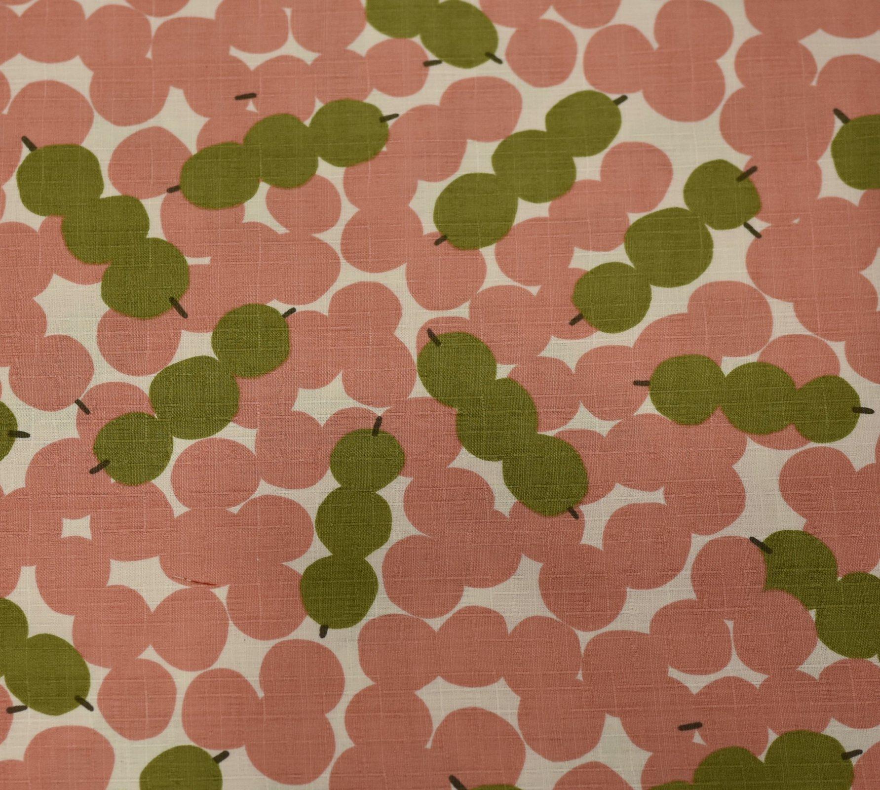 Hokkoh Fabric - Skewered Spots Pink
