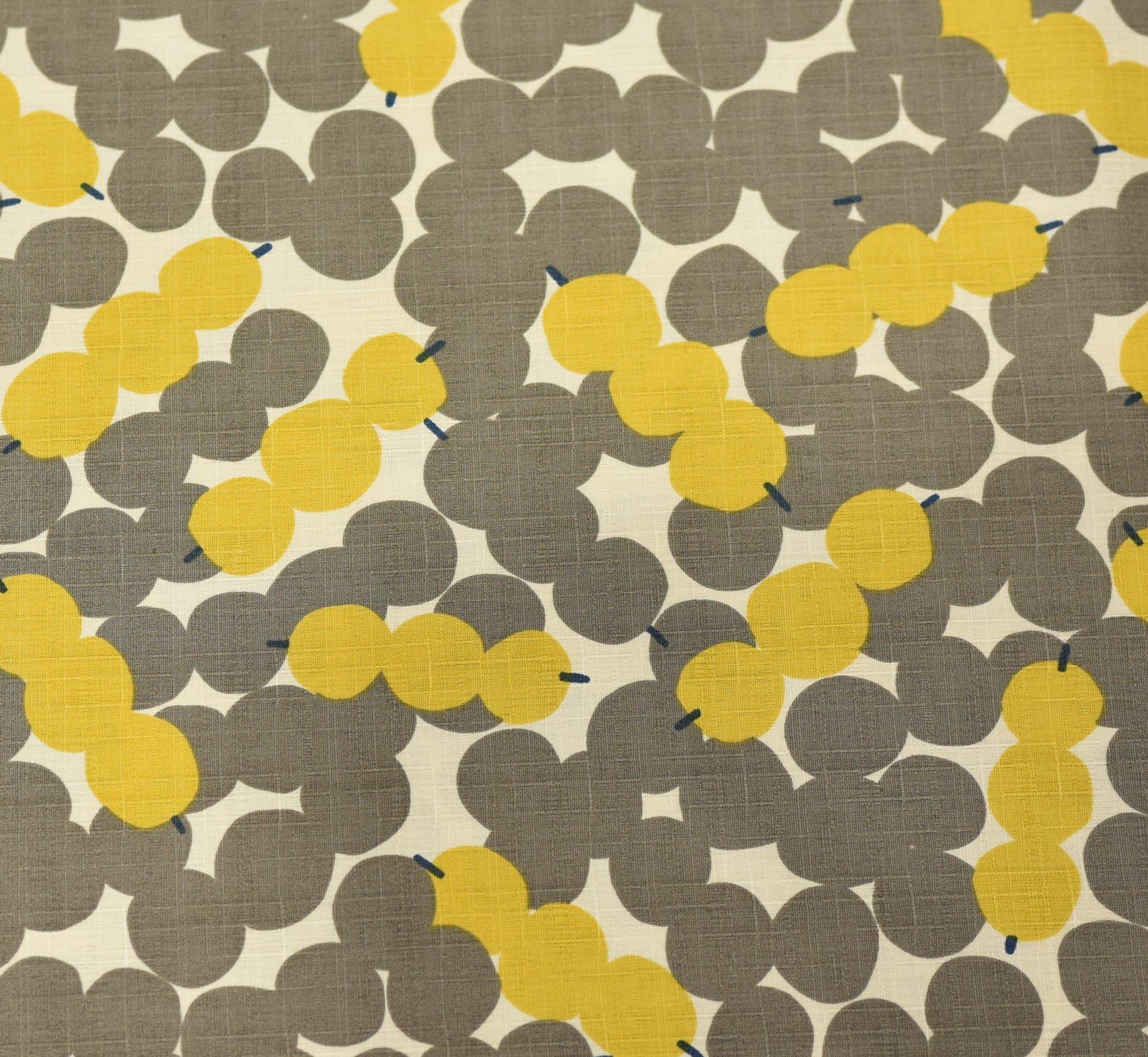 Hokkoh Fabric - Skewered Spots Grey