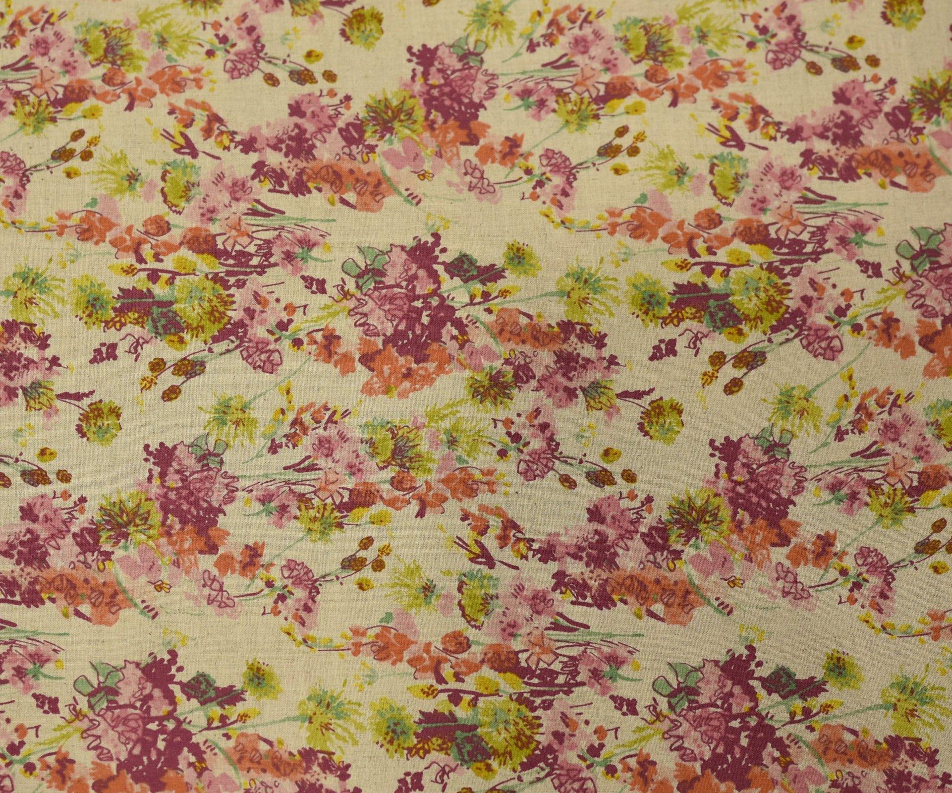 Hokkoh Fabric - Cotton/Linen - Colourful Bunch