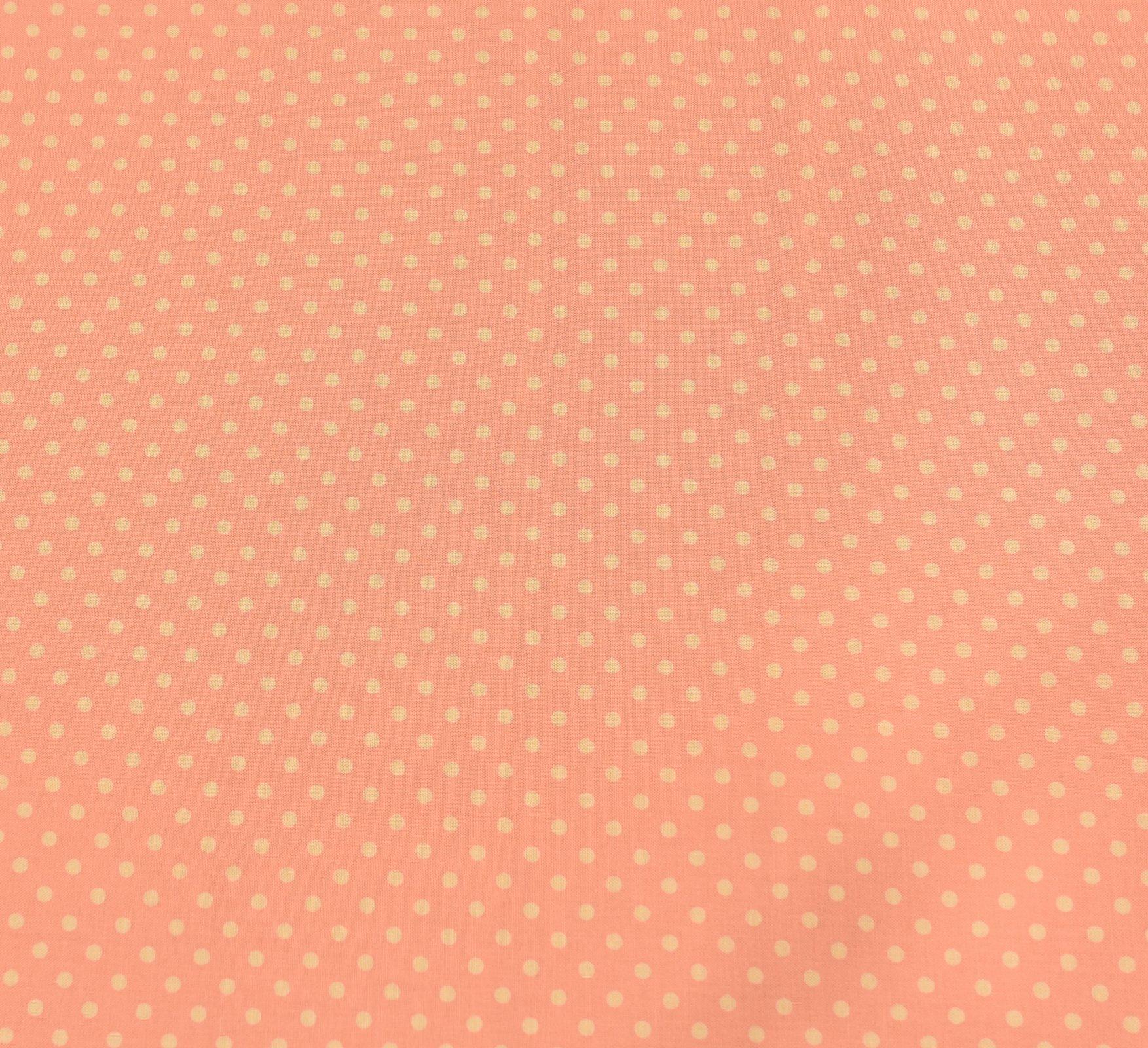 Sevenberry - Medium Dot - Yellow on Bright Peach