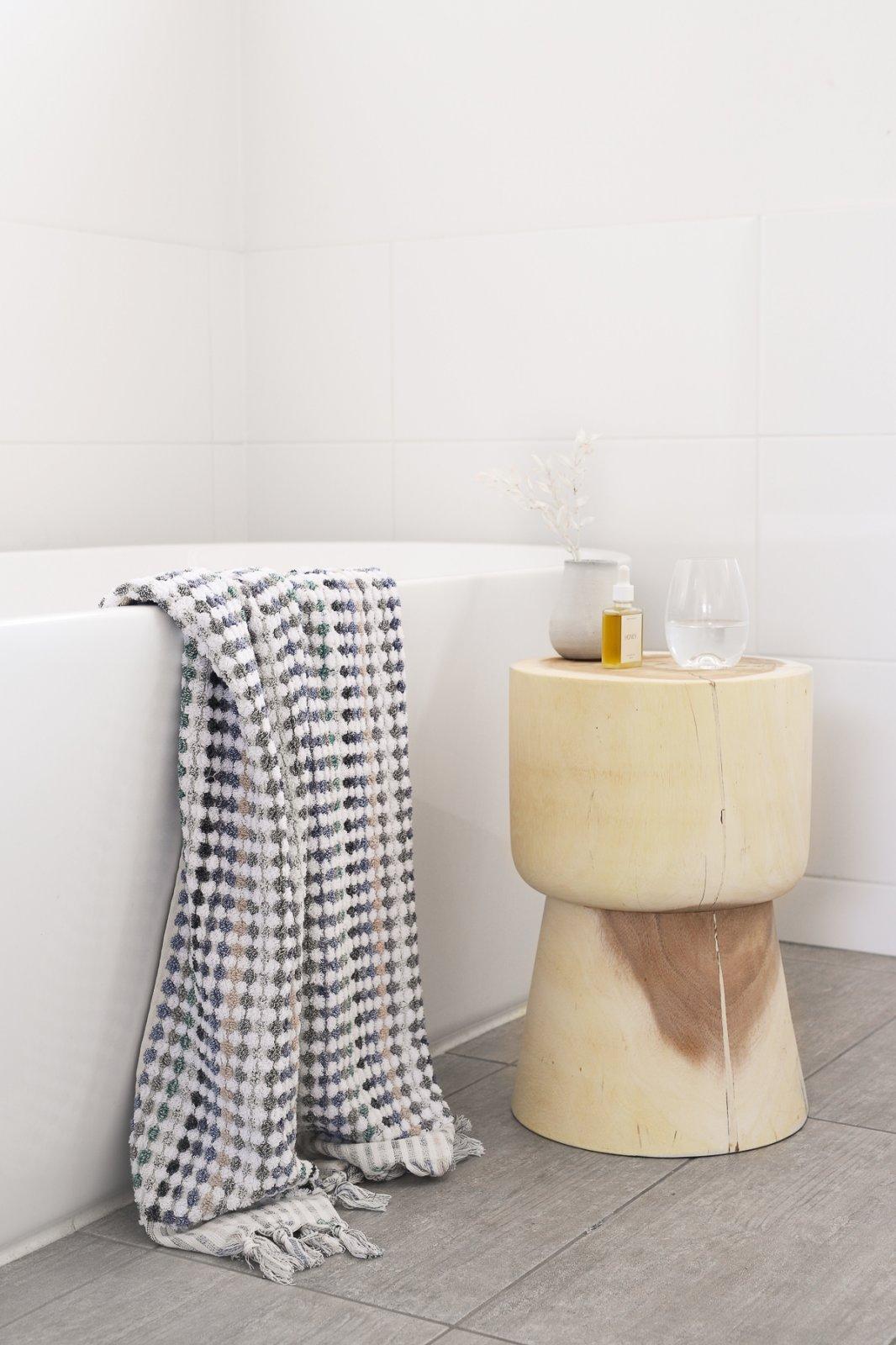 Miss April - Pom Pom Bath Towel - Eucalyptus