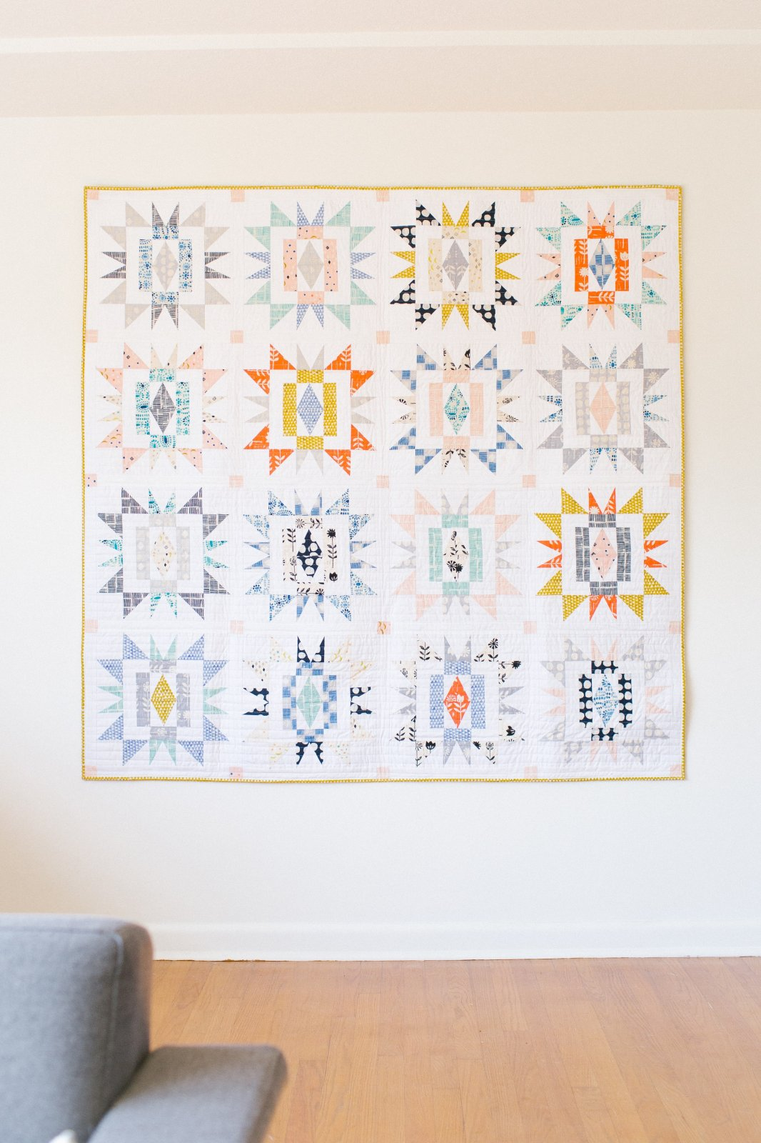 Sienna Burst Quilt by Then Came June
