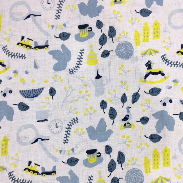 Kokka Fabrics - Torten Life - Blue / Yellow