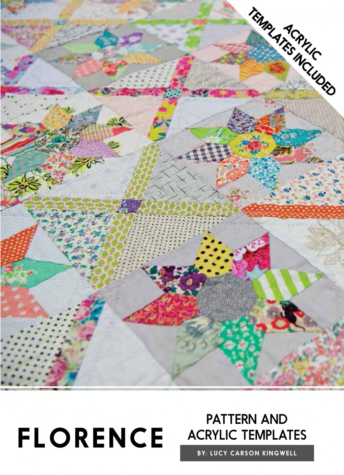 Florence Acrylic Templates And Pattern by Lucy Carson Kingwell
