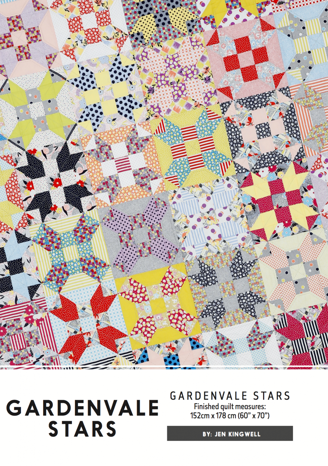 Gardenvale Stars Pattern by Jen Kingwell Designs