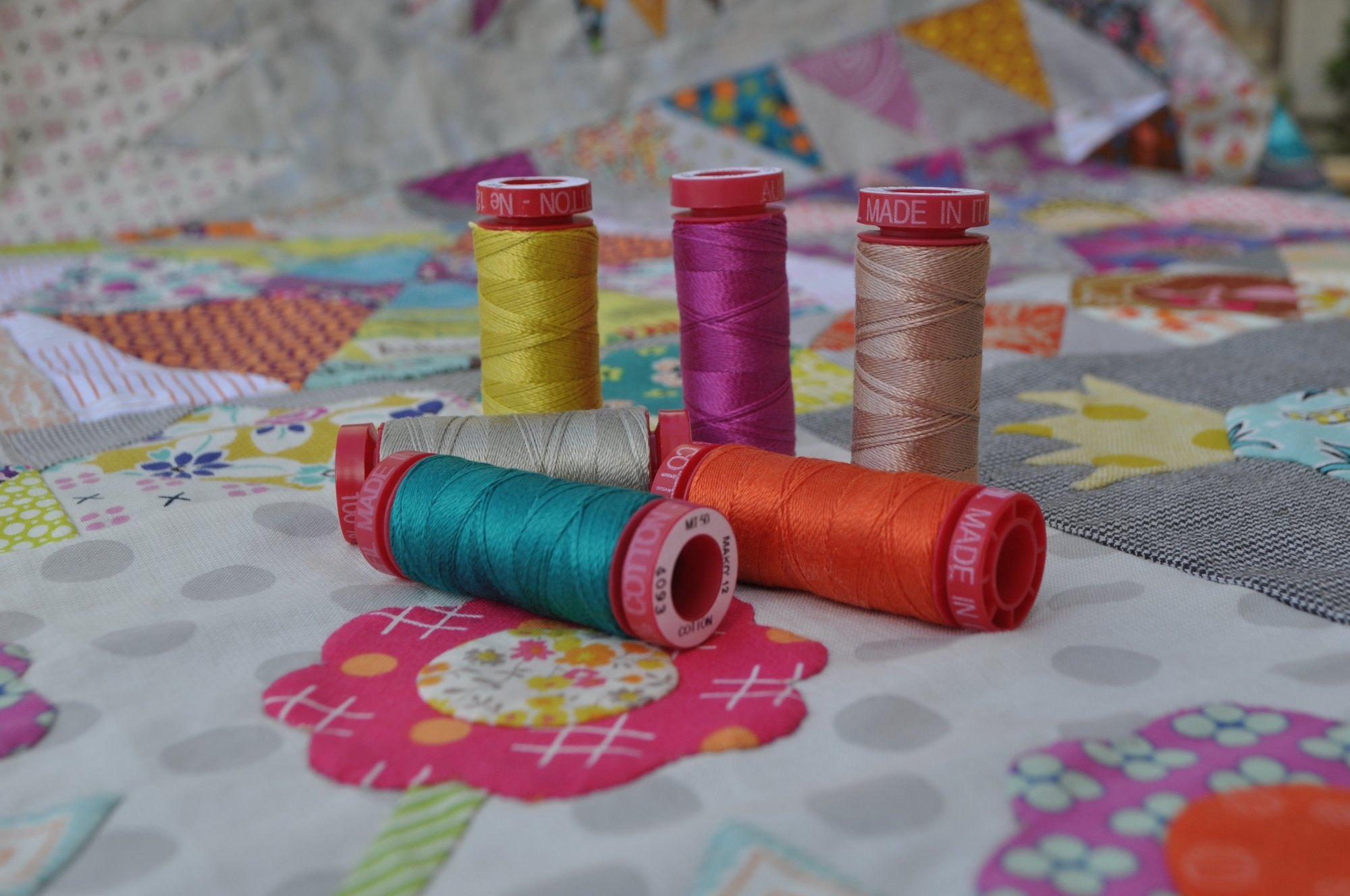 Aurifil Golden Days 12wt Thread Set (includes shipping)
