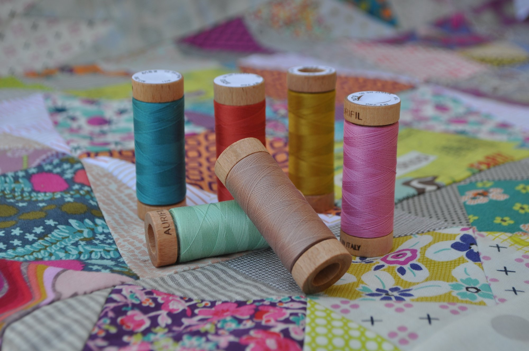 Aurifil Golden Days 80wt Thread Set (includes shipping)