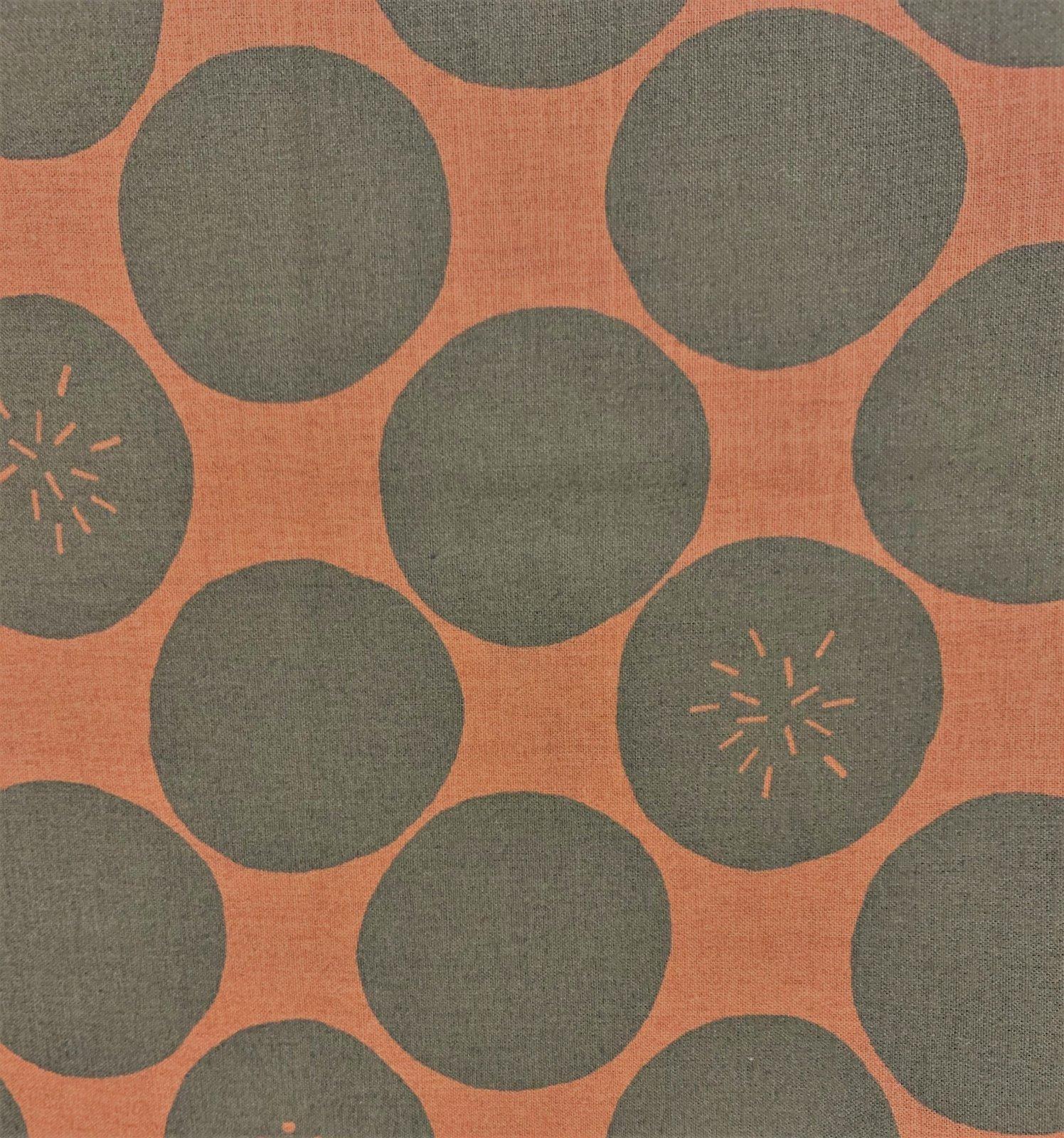 Handworks - Oversized Spot - Chocolate on Rust