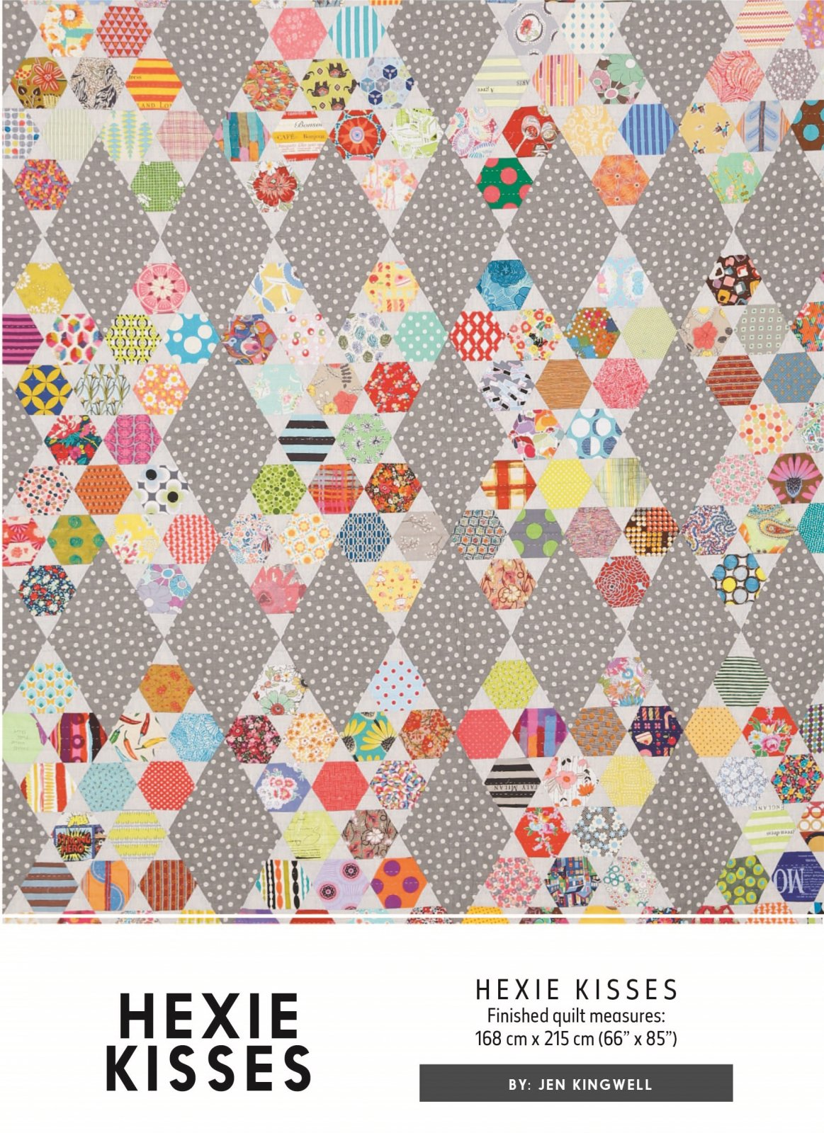 Hexie Kisses Pattern by Jen Kingwell Designs