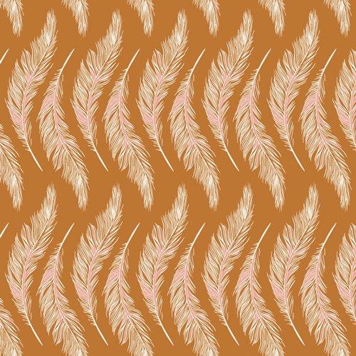 Art Gallery Fabrics - Maureen Cracknell - Homebody - Presently Plumes Gold