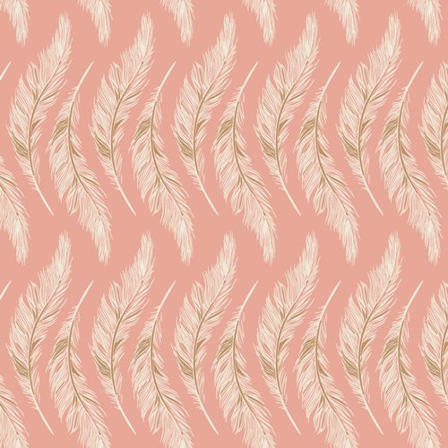 Art Gallery Fabrics - Maureen Cracknell - Homebody - Presently Plumes Rose