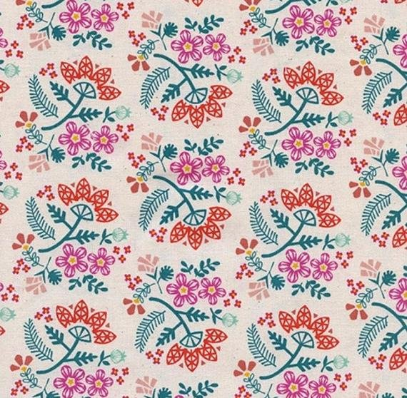 Cotton & Steel - Rashida Coleman Hale - Papercuts - Paper Bouquet - Tangerine
