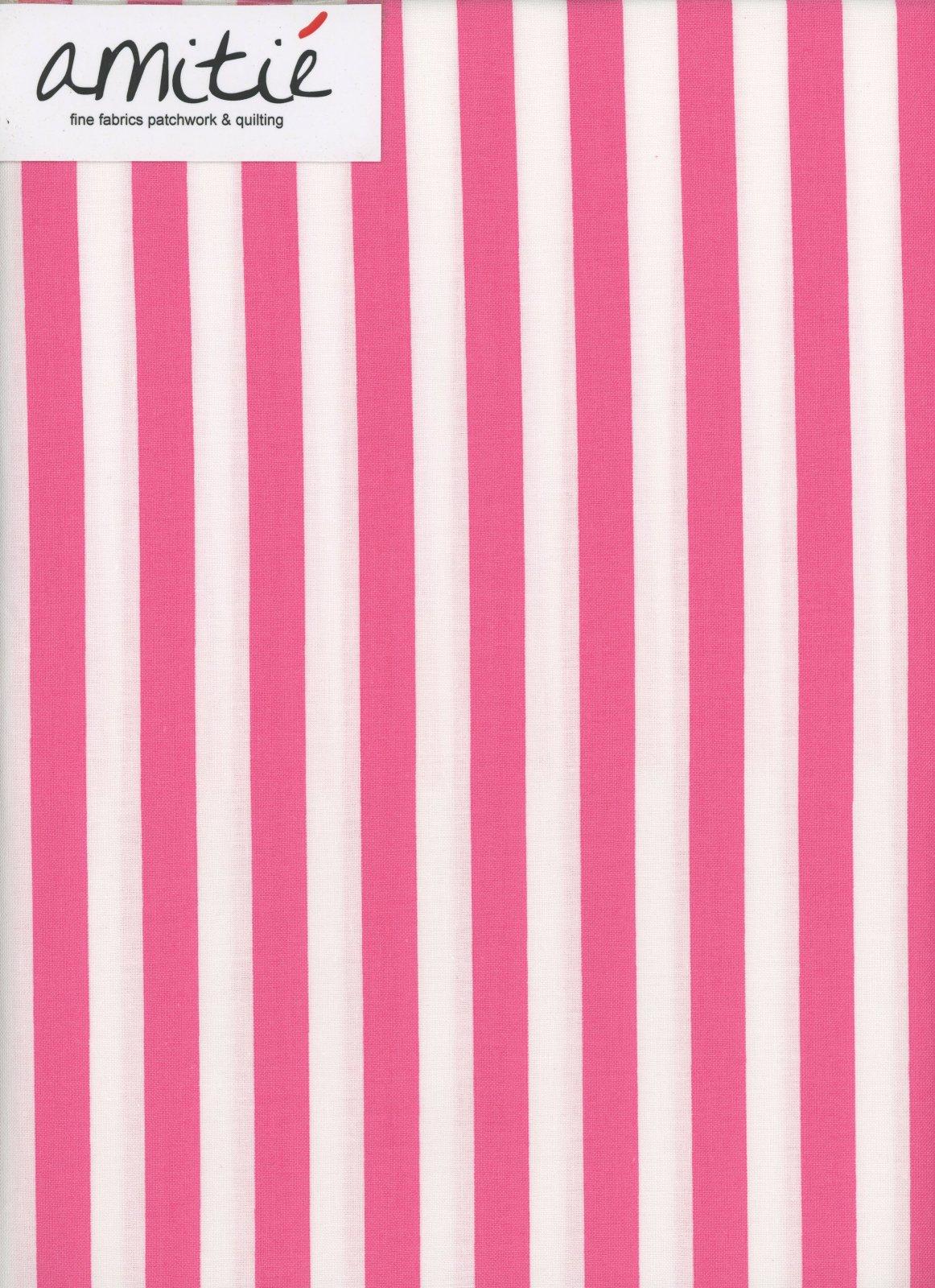 Le Creme - 1/2 Hot Pink/Cream Stripe