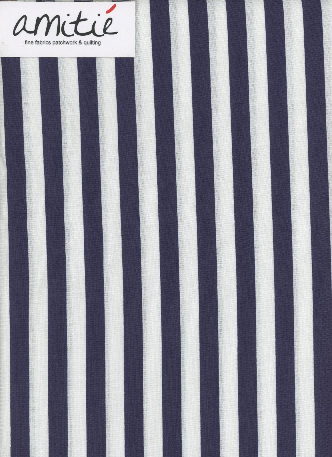 Le Creme - 1/2 Navy/Cream Stripe