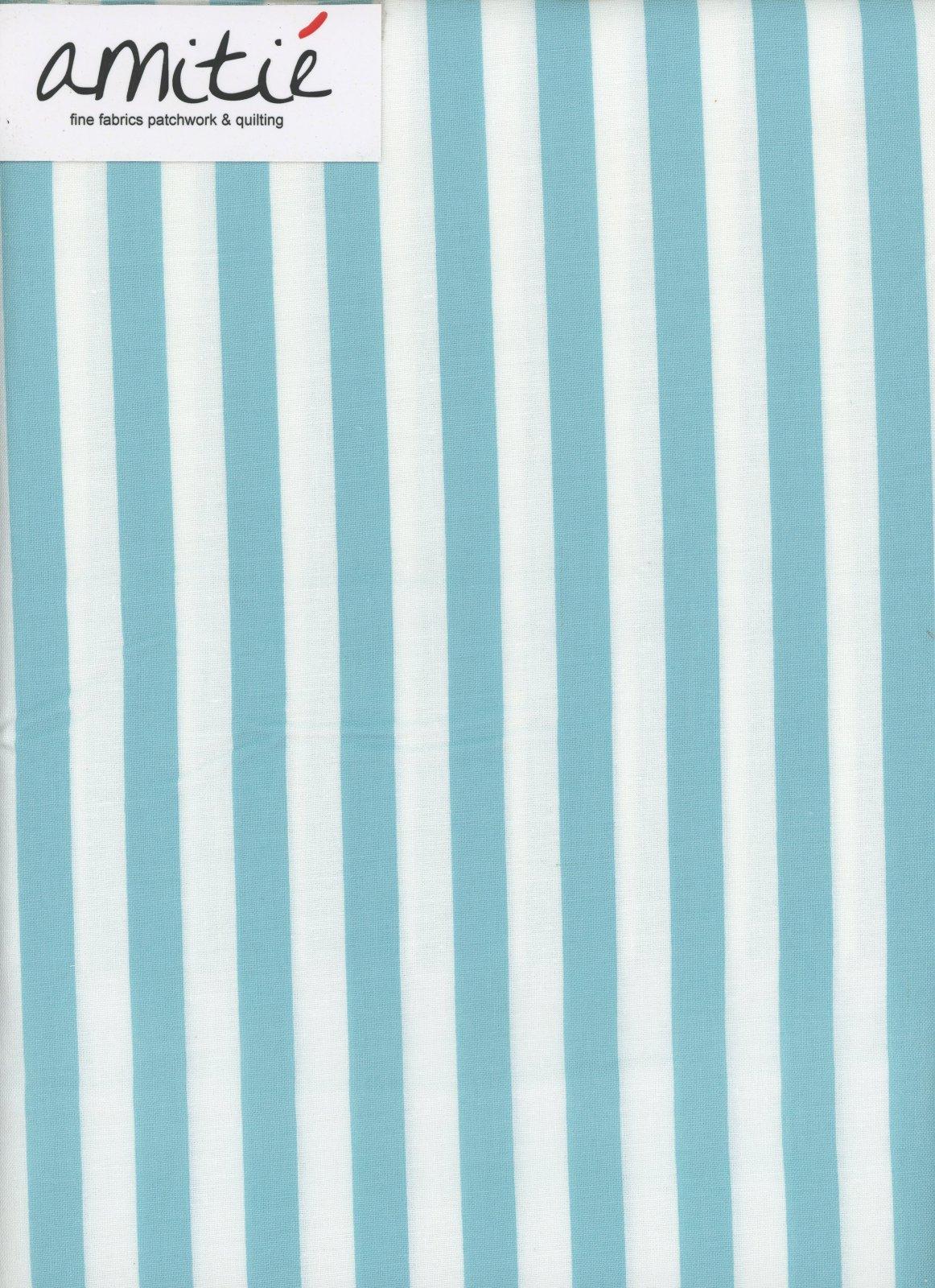 Le Creme - 1/2 Aqua/Cream Stripe