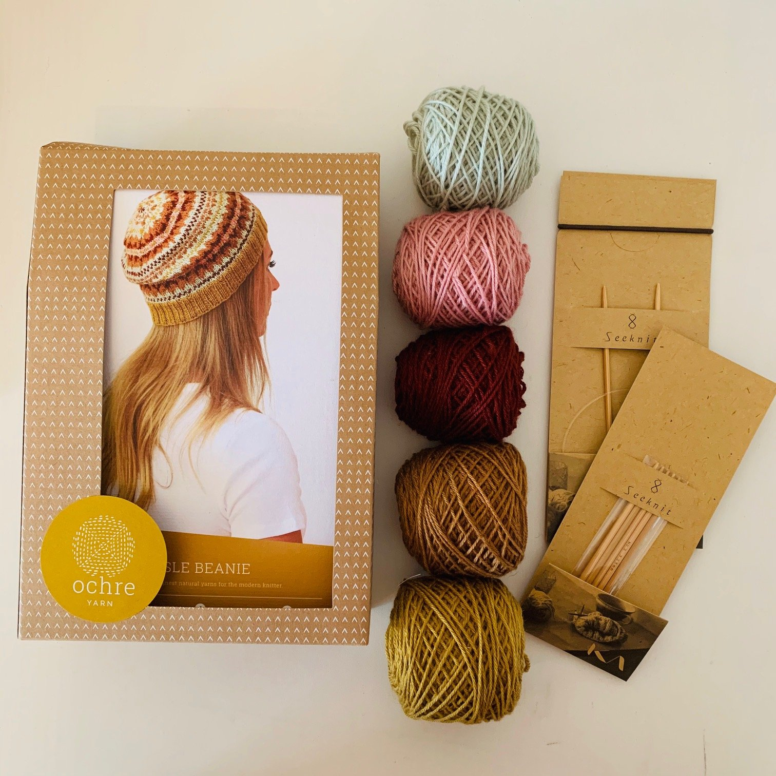 Ochre Yarn - Fair Isle Beret - Kit