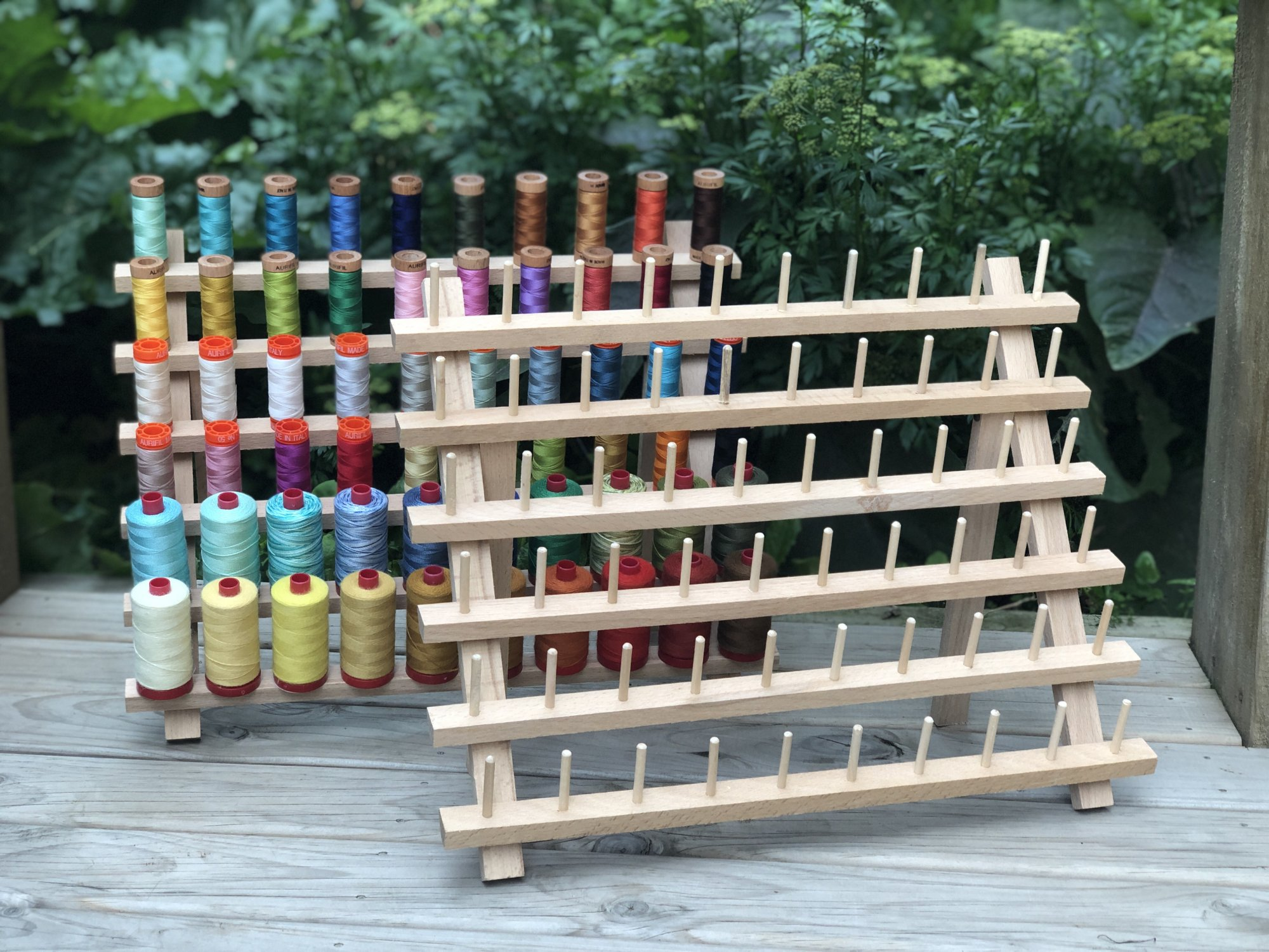 Wooden Thread Stand - 60 Spools