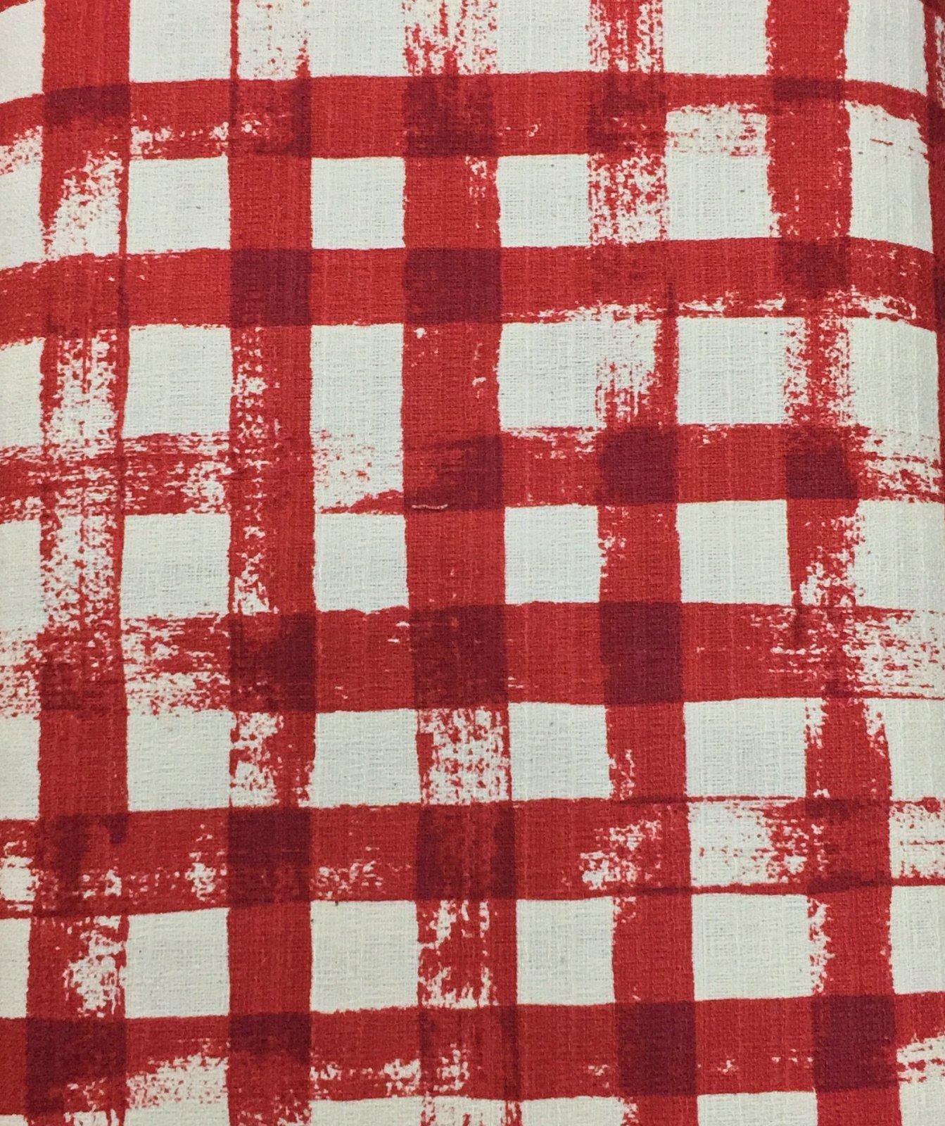Kokka Fabrics - Checkered - Red / Tea