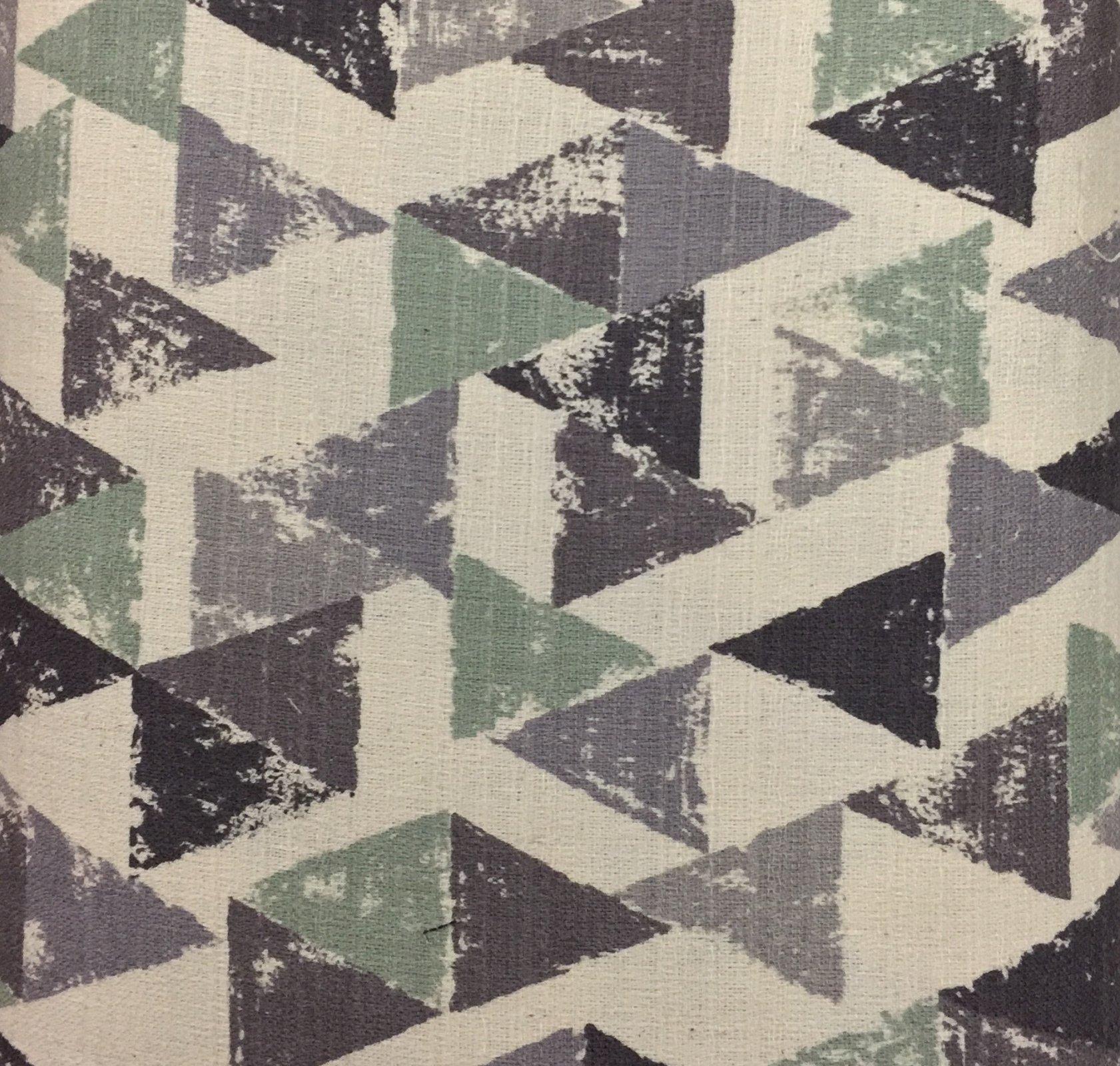 Kokka Fabrics - Trefle - Triangles - Green / Blue