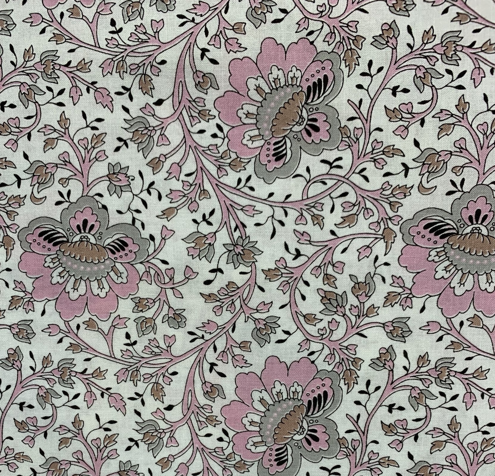 Yuwa - Charmant Collection - Pink Retro Folk Floral