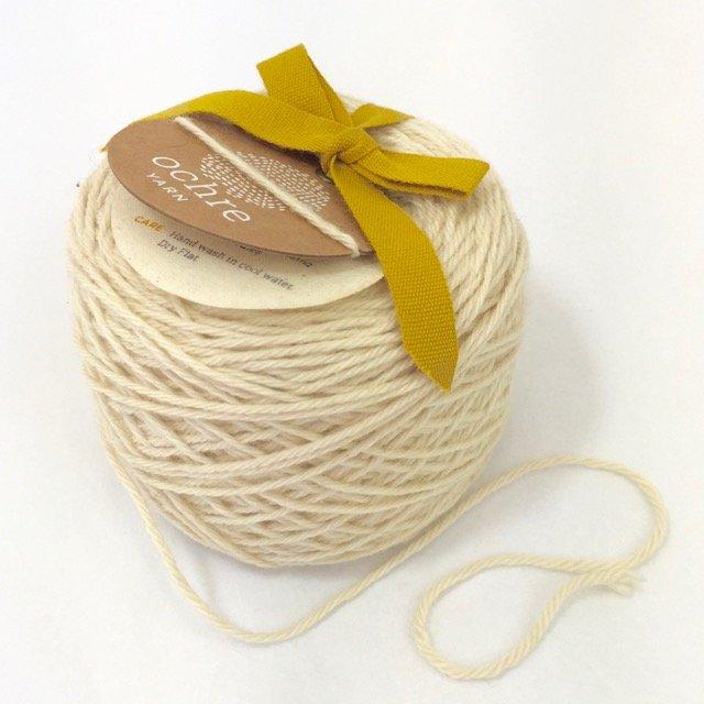 Ochre Yarn - 4ply Merino/Yak/Silk - 20g/80m - #49 White