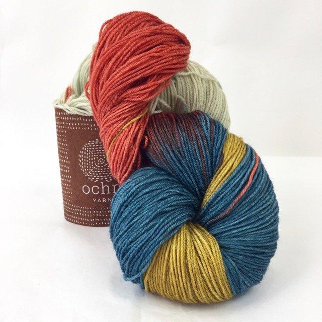 Ochre Yarn - 4ply Merino/Yak/Silk - 100g/400m - #63 Horizon