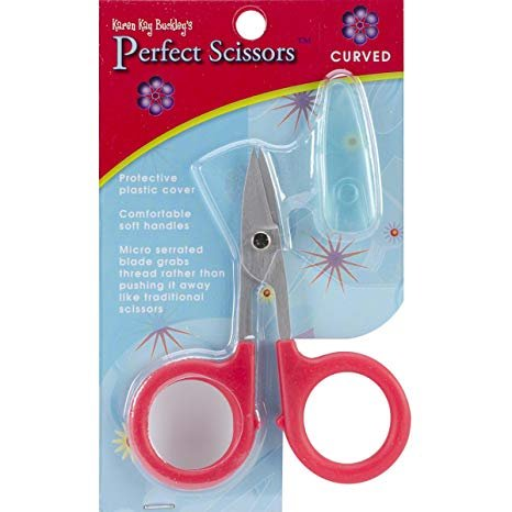 Karen Kay Buckley Curved Scissors - Red Handle