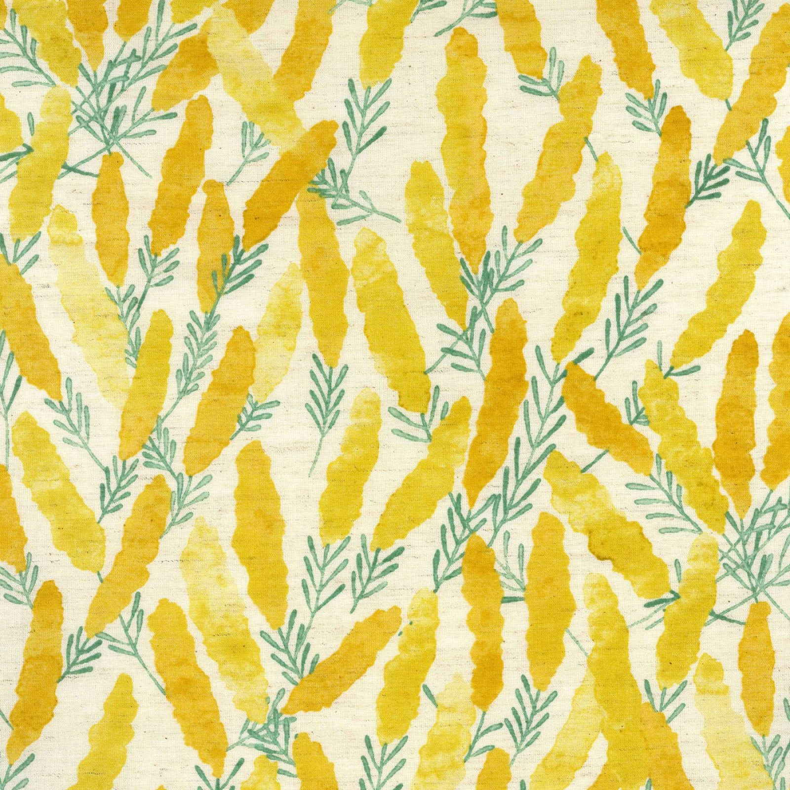 Kokka Fabrics - Natural Garden - Yellow