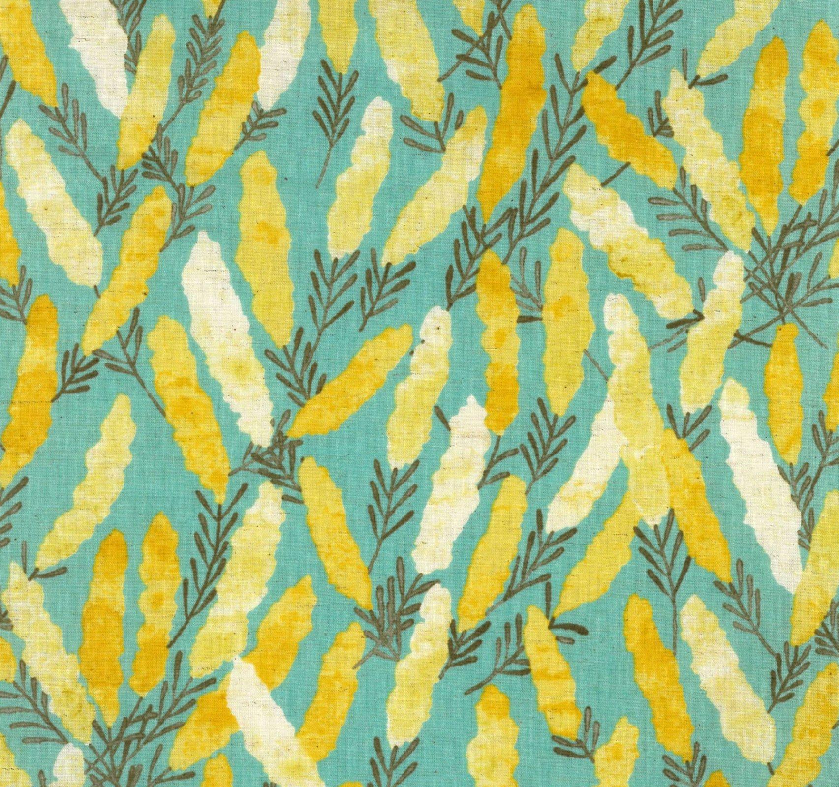 Kokka Fabrics - Natural Garden - Aqua
