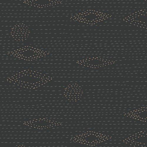 Art Gallery Fabrics - Kismet - Kantha Charcoal