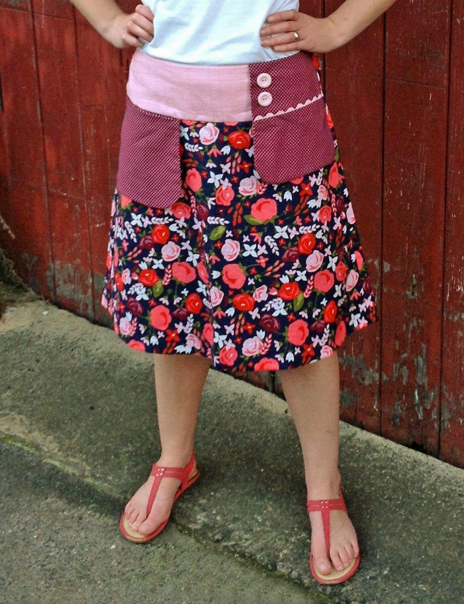 Clares Place - Ladies Swing Pocket Skirt Pattern