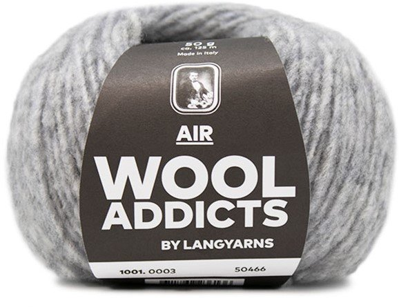 LANG Yarns - WOOL ADDICTS AIR Collection - 50g/125m - Col 03 - Light Grey Mélange