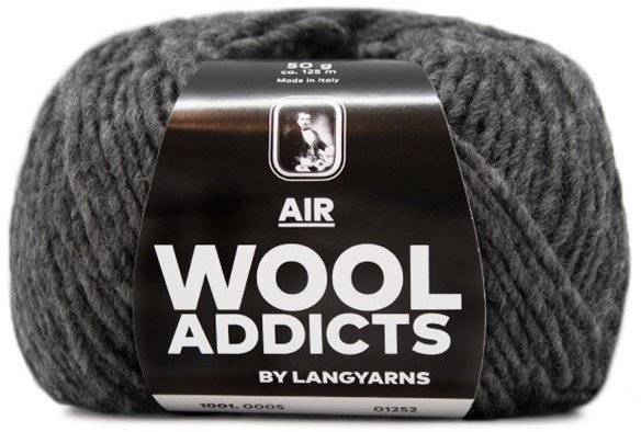 LANG Yarns - WOOL ADDICTS AIR Collection - 50g/125m - Col 05 - Grey Mélange