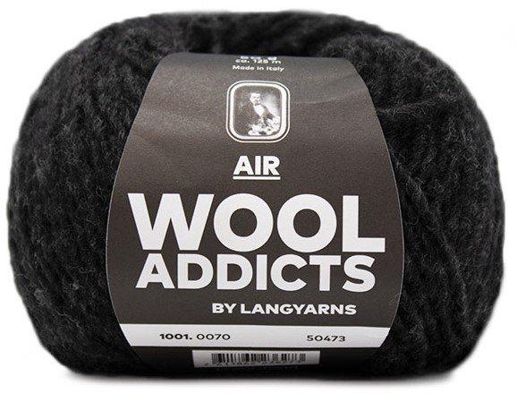 LANG Yarns - WOOL ADDICTS AIR Collection - 50g/125m - Col 70 - Black Marle