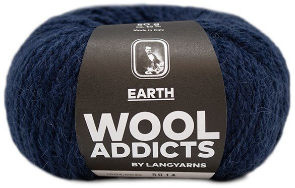 LANG Yarns - WOOL ADDICTS EARTH Collection - 50g/65m - Col 35 - Marine Blue
